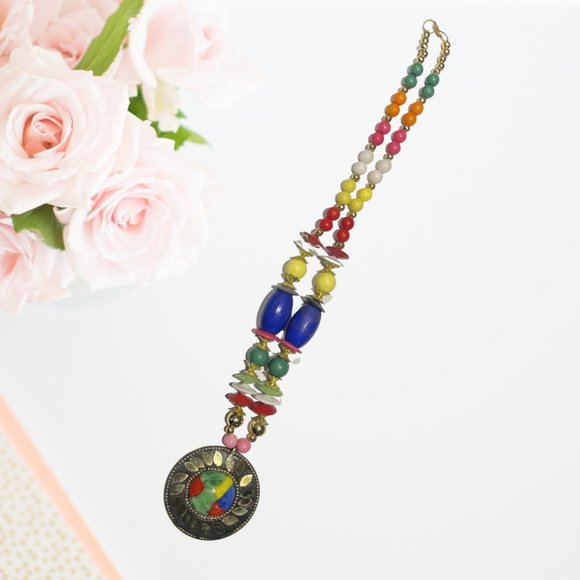 BOHO Colorful beaded necklace